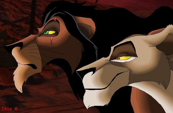 """Top 8 Villains: Scar from """"The Lion King"""" and Zira from """"The Lion King 2: Simba's Pride"""""""