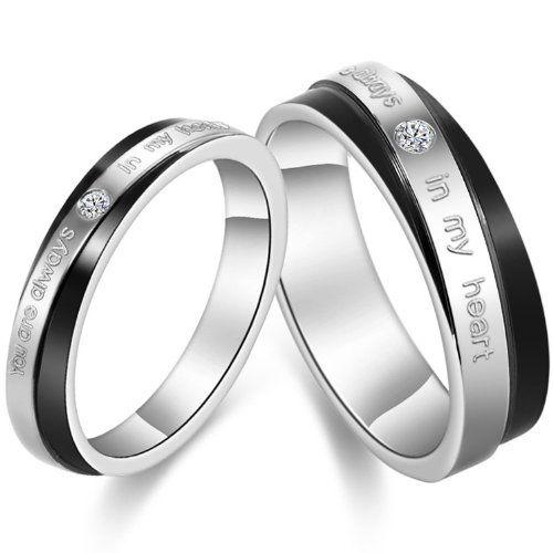 #JewelryWe #Schmuck #1 #Paar #Edelstahl #Partnerringe,