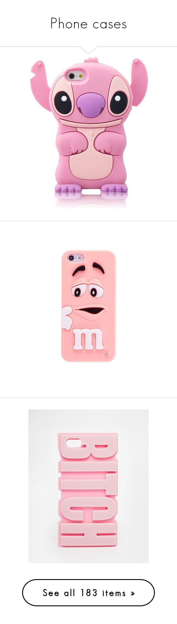 """""""Phone cases"""" by queenlove-996 ❤ liked on Polyvore featuring accessories, tech accessories, phone cases, comic book, pink stitch, silicone iphone case, iphone cover case, pink iphone case, iphone case and silicon iphone case"""