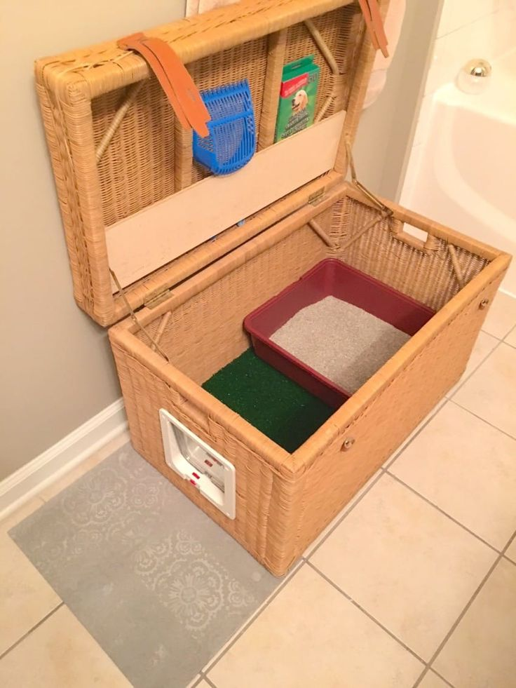 this hidden litter box is the perfect solution for cat lovers who live in small spaces cat lovers 27 diy solutions