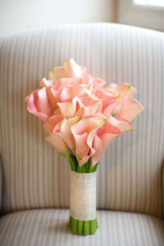 Pink calla lily wedding bouquet  For more insipiration visit us at https://facebook.com/theweddingcompanyni or http://www.theweddingcompany.ie