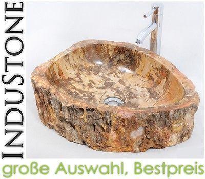 FOSSIL WOOD D1 Naturstein Waschbecken NATURAL STONE Versteinertes Holz Bis  50 Cm