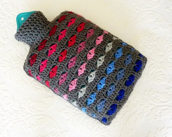 Crochet hot water bottle cover bottle cozy Shops, Bottle ...