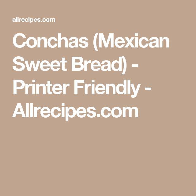 Conchas (Mexican Sweet Bread) - Printer Friendly - Allrecipes.com