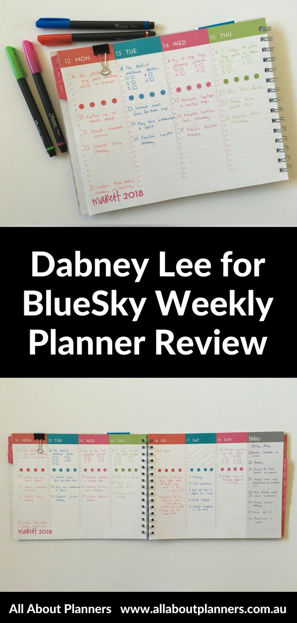 Using The Dabney Lee For Bluesky Landscape Weekly Planner All About Planners Weekly Planner Planner Planner Review