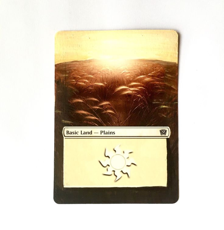 A personal favorite from my Etsy shop https://www.etsy.com/listing/169604944/mtg-altered-art-basic-plains-from-magic