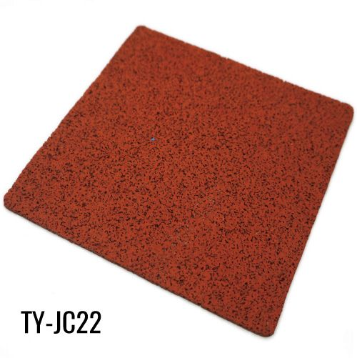 Red Recycled Sports Rubber Mat Roll Flooring Residential