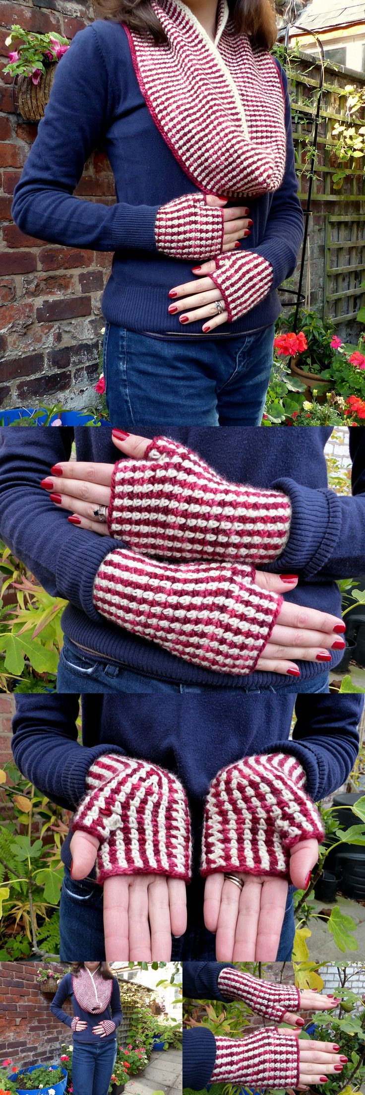 Linen Stitch Gloves and Cowl set – Free crochet patterns from Make My Day Creative
