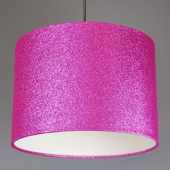 Pink Glitter lampshade also available lots of other glitter colours