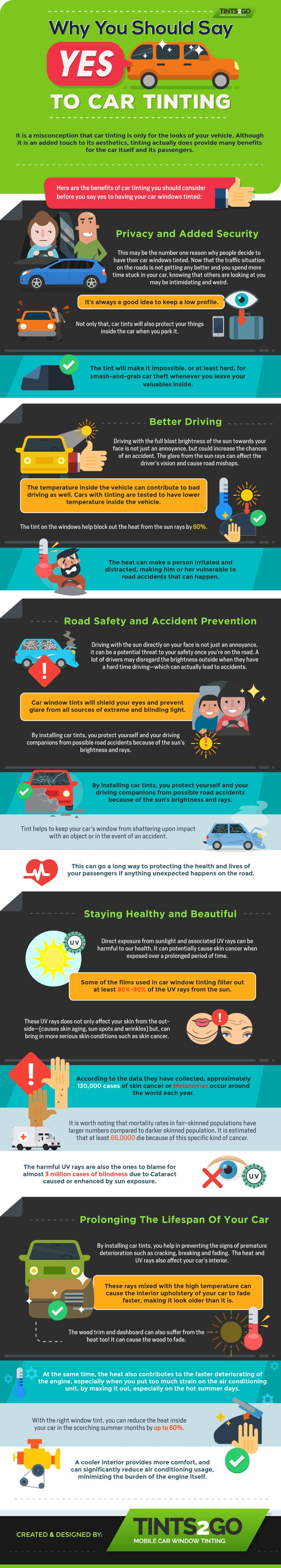Car colour affects road safety - Car Colour And Road Safety Why You Should Say Yes To Car Tinting Infographic Cartint