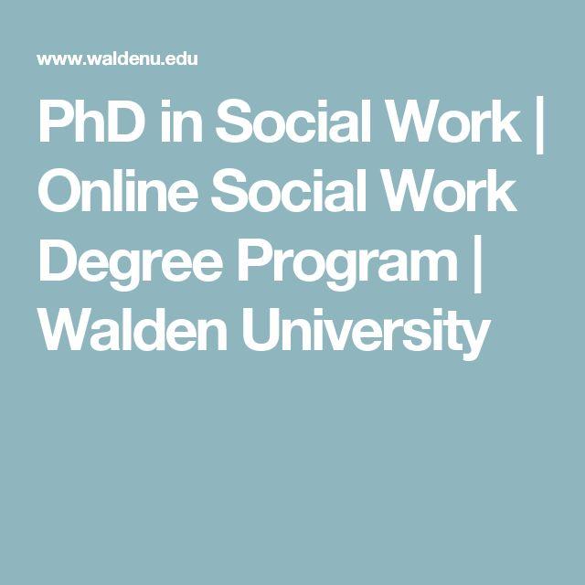 PhD in Social Work | Online Social Work Degree Program | Walden University