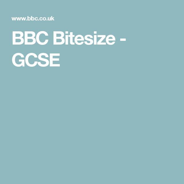 BBC Bitesize - GCSE