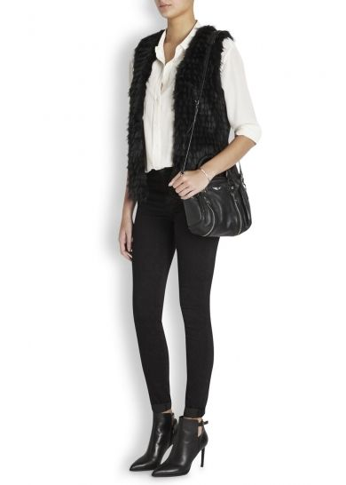 Ice Breaker black faux fur gilet £130
