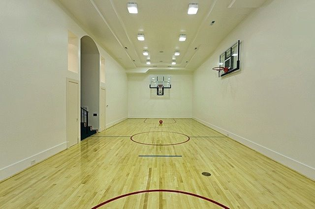 17 best basement under garage images on pinterest for Indoor basketball court plans
