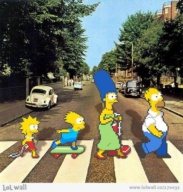 68 best abby road images on pinterest abbey road the - The simpsons abbey road wallpaper ...