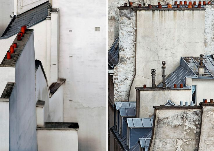 michael wolf frames abstract views of parisian rooftops