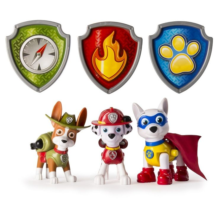 Paw Patrol Action Pack Pups Figure Set, Tracker, Apollo, Everest -3pk