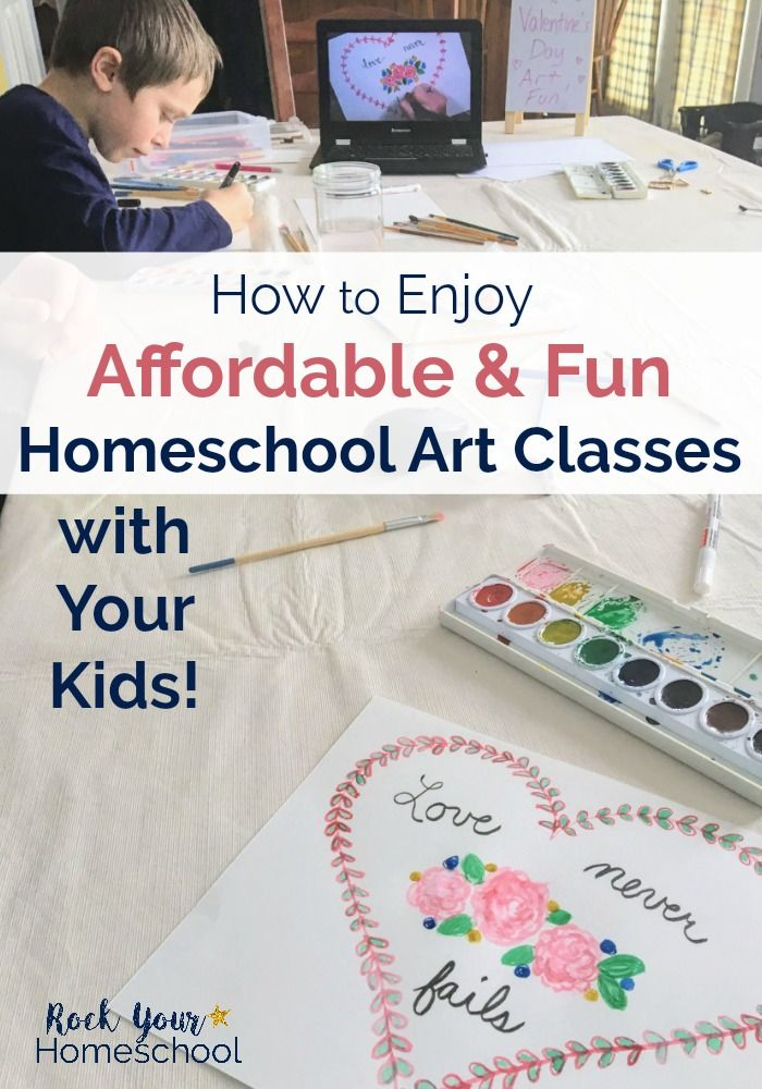 You CAN enjoy affordable & fun homeschool art classes! Find out how we provide all 5 of our boys with quality art lessons to boost our learning fun at home. #homeschoolart #homeschoolartclasses