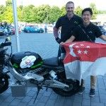 proudly flying the Singapore flag in Germany at the start of WAVE 2014