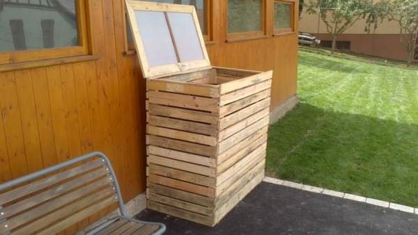 Pallet Garbage Bin Shelter Boxes & Chests