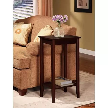 Wood End Tables Tall Brown Nightstands Furniture Sofa Couch Living Room New