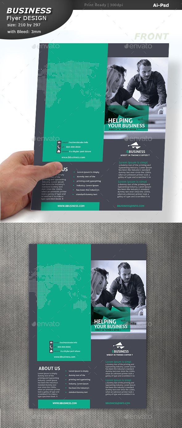 Corporate Pamphlet Design (Vector EPS, AI Illustrator, CS6, 210x297, business flyer, corporate flyer, corporate pamphlet, services flyer)
