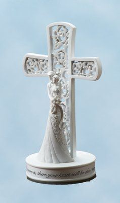 "Couple with Cross Cake Topper | ""For where your treasure is, there your heart will be also."" Matthew 6:21."