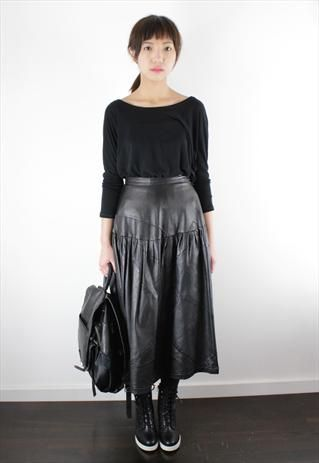 22 best images about Leather Midi Skirt - autumn/winter 2014 on ...