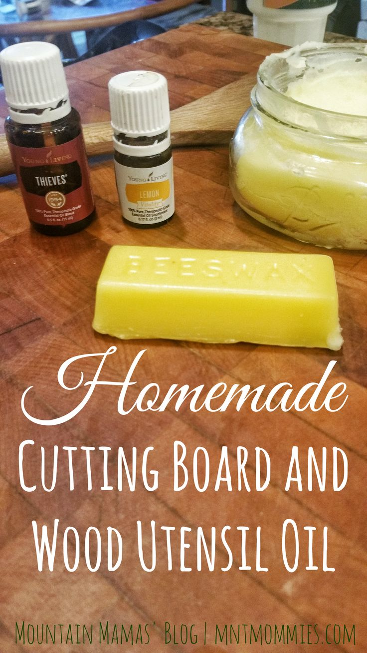 Diy Cutting Board And Wood Utensil Oil Wax All Natural