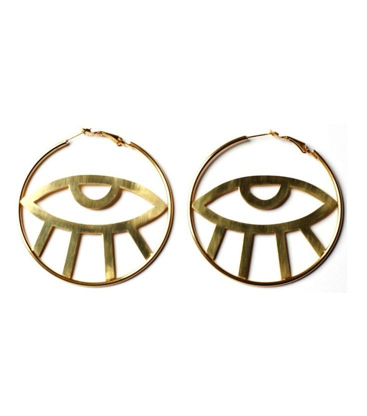 Third Eye Hoop Earrings | By Samii Ryan