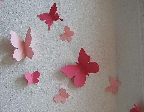 Mariposas de papel para decorar tu pared.