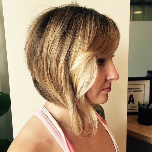 layered bob with elongated front pieces