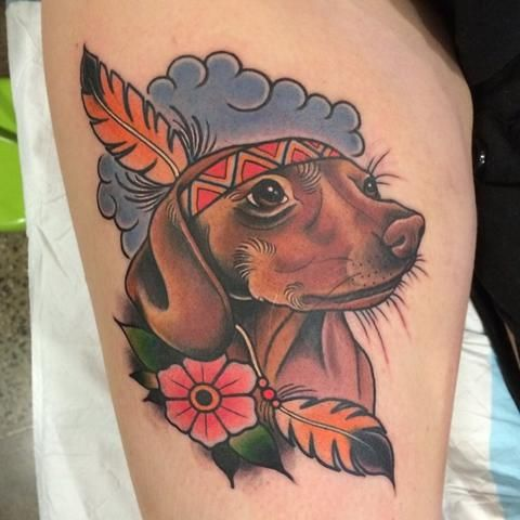 Image result for dachshund tattoo