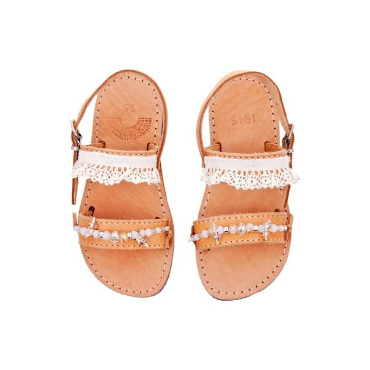 flower girl sandals by iris | notonthehighstreet.com