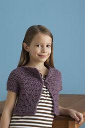 Ravelry: Bebop / Urban Girl Cropped Cardi pattern by Lion Brand Yarn