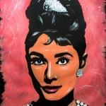Brian Olsen Art Painting of Audrey Hepburn. brianolsenart.com