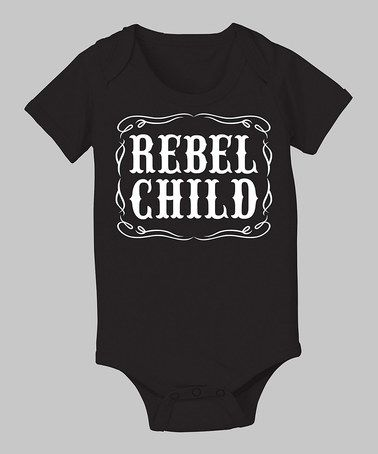 Look what I found on #zulily! Black 'Rebel Child' Bodysuit - Infant by Country Casuals #zulilyfinds