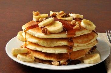 Банановые панкейки - пошаговые рецепты с фото. Как приготовить панкейки с бананом на молоке или кефире