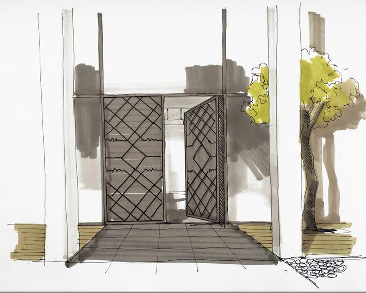 Villa door sketch