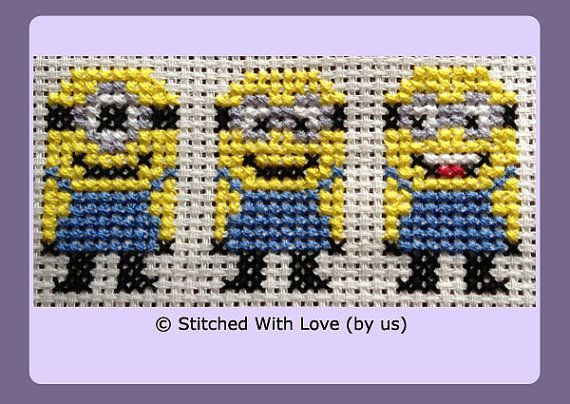 Our Yellow Minion Cross Stitch Pattern is extremely simple to do and a great starter for beginners or easy pattern for more experienced