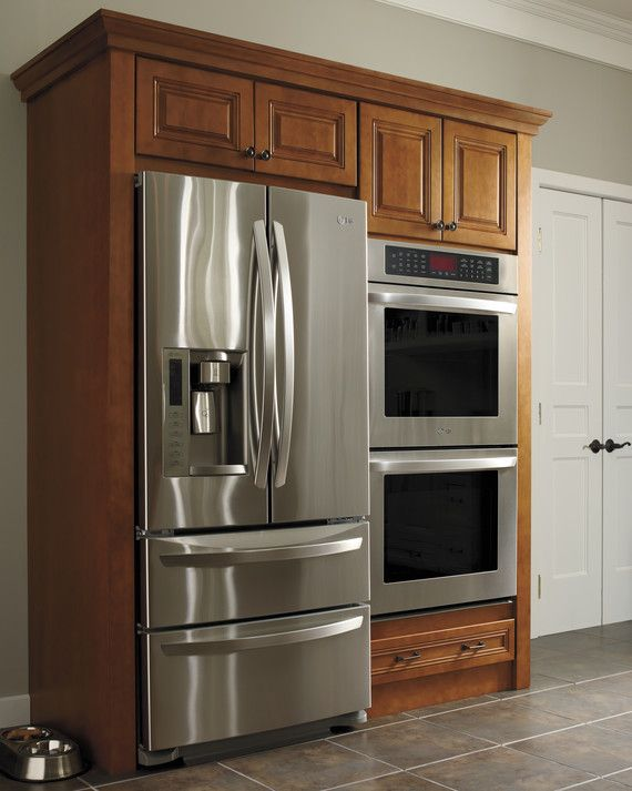 Take advantage of a larger kitchen area by building in your refrigerator and double ovens for a clean and efficient clean space.Discover All of the Martha Stewart Living Kitchens on HomeDepot.com