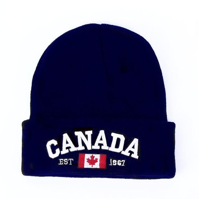 Unisex Canada Knitted Double-sided Turtleneck Cap