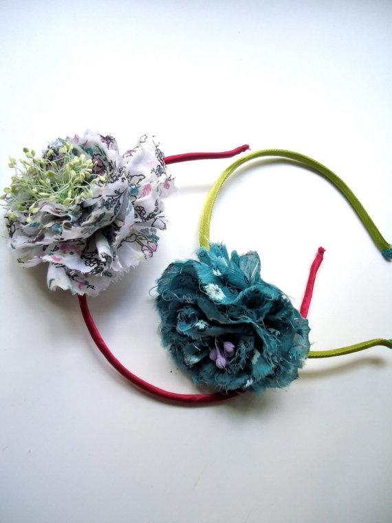Charming fabric headband with flower liberty by alexandrafa, €20.00