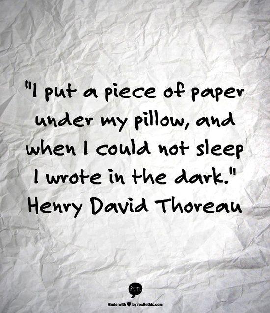 Henry david thoreau a quote analysis