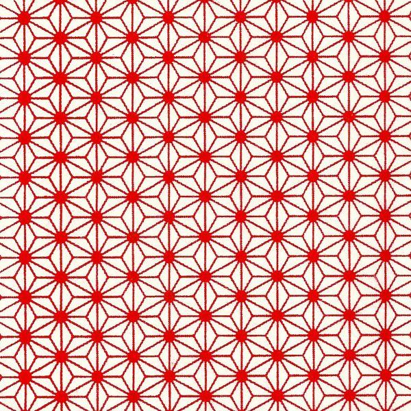 Papier japonais / Sérigraphie feuille de chanvre étoilée fond rouge - Adeline Klam