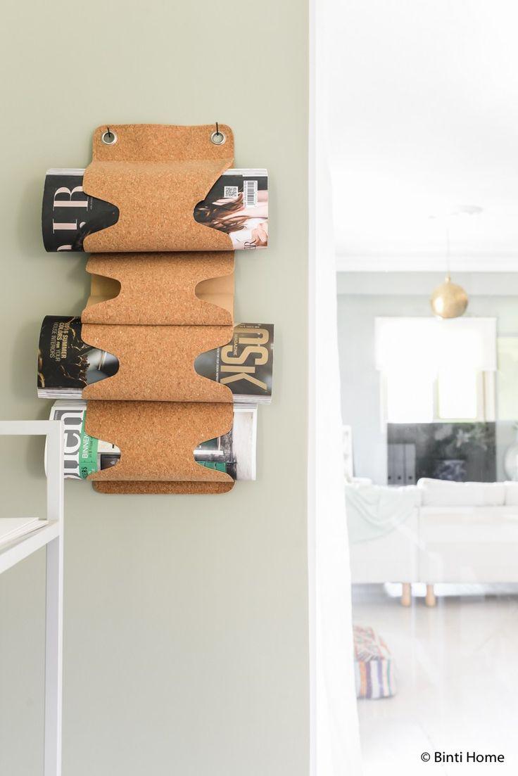 Home decor idea cork magazine holder Our Cairo Home ©BintiHome-3