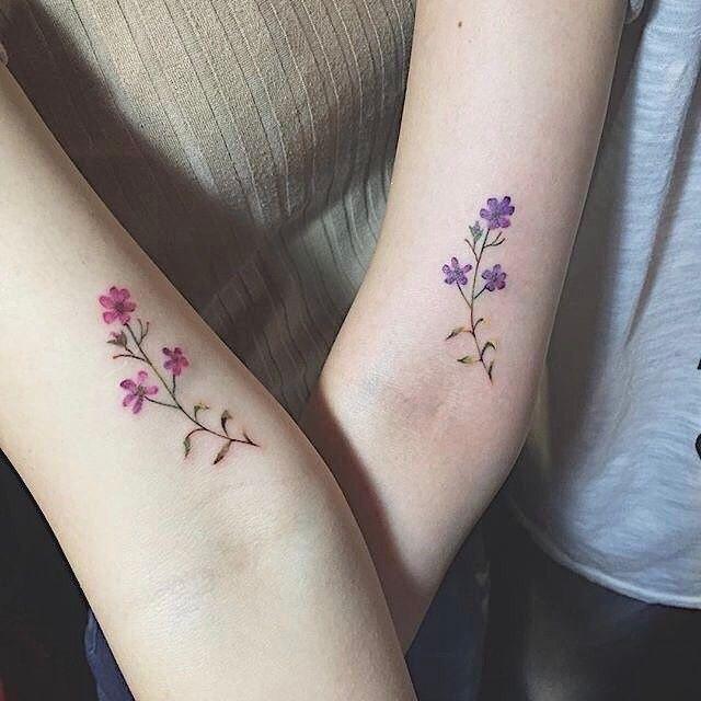 Lavender Bestie Tattoos