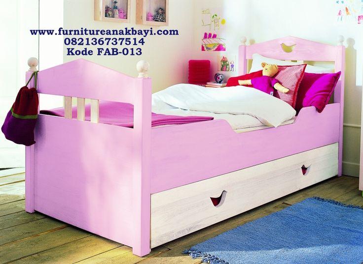 Jasa Pembuatan Ranjang Anak Perempuan Single Laci Sorong Pink Murah , Ranjang Single Anak Cewek Pink Murah, Tempat Tidur Anak Perempuan Pink Minimalis