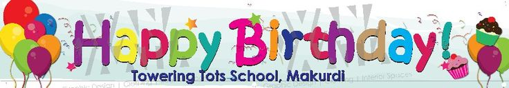 Happy Birthday PVC banner done for Towering Tots School, Makurdi. This would make a lovely backdrop in the birthday photos taken during lunch time!