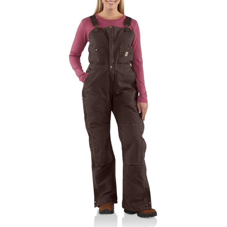 Carhartt Sandstone Bib Overalls - Insulated (For Women 69.95